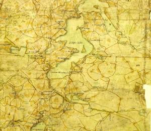 Карта Озера Вельё 18 века