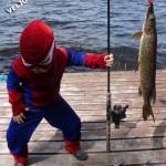 Человекпаук на озере Вельё