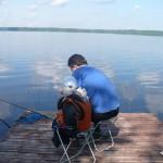Отцы и дети на рыбалке