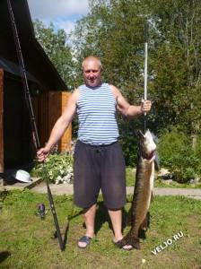 Хороший улов в руках рыбака